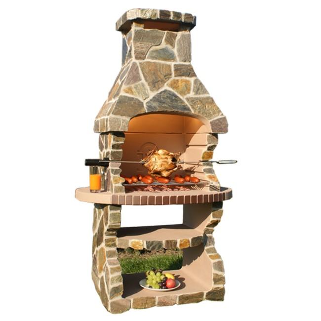 Grill ogrodowy kominek