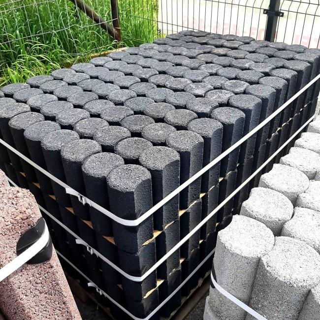 Palisada betonowa okrągła niska