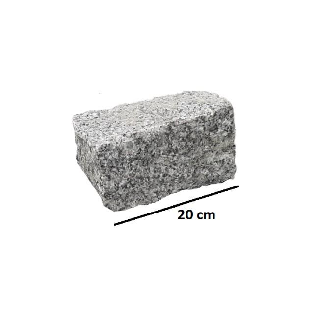 Palisada granitowa łupana